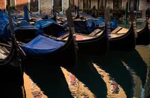 Venice, Gondola View On A Gold...