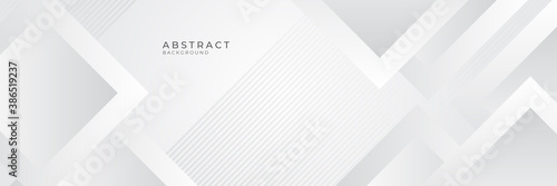 Obraz Modern white gray abstract web banner background creative design. Vector illustration design for presentation, banner, cover, web, flyer, card, poster, game, texture, slide, magazine, and powerpoint.  - fototapety do salonu