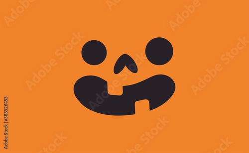 Photo Halloween pumpkin face icon