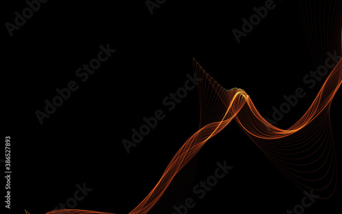 Obraz Dark abstract background with a glowing abstract waves - fototapety do salonu