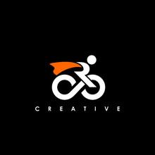 R Bike Logo Design Template Vector Illustration