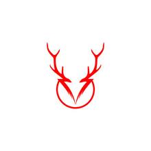 Illustration Logo Deer Icon Templet