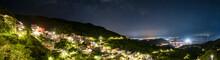 Jiufen Village At Night With M...
