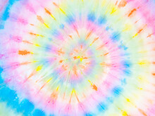 Rainbow Tie-dye Wallpaper. Hippie Spiral Tie Bye Background. Colorful Burst.