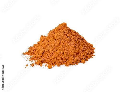 Fototapeta cinnamon powder isolated on a white background