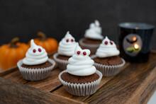 Halloween Ghost Cupcakes , Hom...