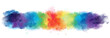 Rainbow artistic watercolor background banner with watercolor texture and splash