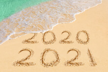 Numbers 2021 On Beach