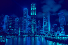 Cityscape Of The Night. The Bu...