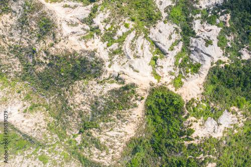 Obraz Top view of Mountain landscape, Castle Peak, Hong Kong, outdoor scenery - fototapety do salonu