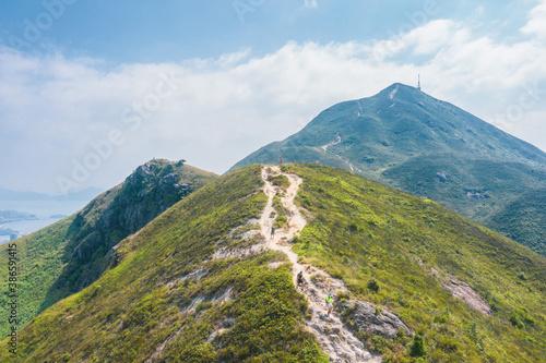 Obraz Hiking Footpath in mountain, countryside of Castle Peak, Hong Kong, daytime, Autumn - fototapety do salonu