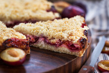 Homemade Plum Crumble Cake