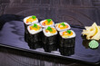 Japanese roll maki with salmon