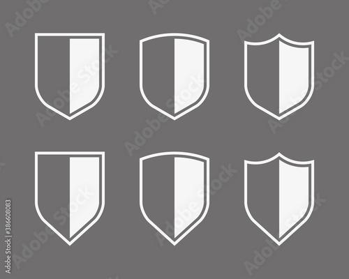 Protect guard shield plain line concept Canvas Print