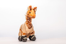 Toy Giraffe Isolated On White ...
