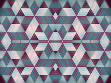 Multi Colored Hypnotic Background. 3d Rendering Kaleidoscopic Striped Design