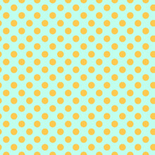Seamless Retro Inspired Youthful Polka Dot Pattern In Candy Colors