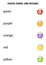 Match Color Words With Jars Of...