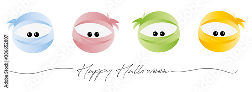 Fotografía cute corona halloween masked ninjas