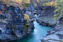 Mountain River Canyon And Autu...