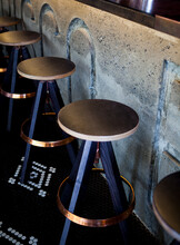 Barstools With Copper Trim