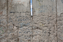 Detail Of The Remains Of The Berlin Wall, Berlin, Germany. Segments Of Wall Left As A Reminder Of Events Leading Up To The Fall Of The Wall In November 1989