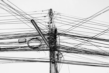 Busy High Voltage Cables With ...