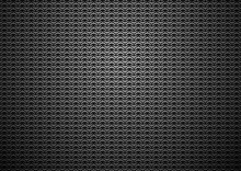 Chain Mail Medieval Black Background. Dark Metal Chain Armor Texture. Iron Rings, Silver Chainmail Vector Pattern