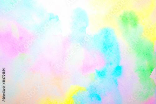 delikatne-akwarelowe-niewyrazne-malowane-kolory-teczy-na-tle