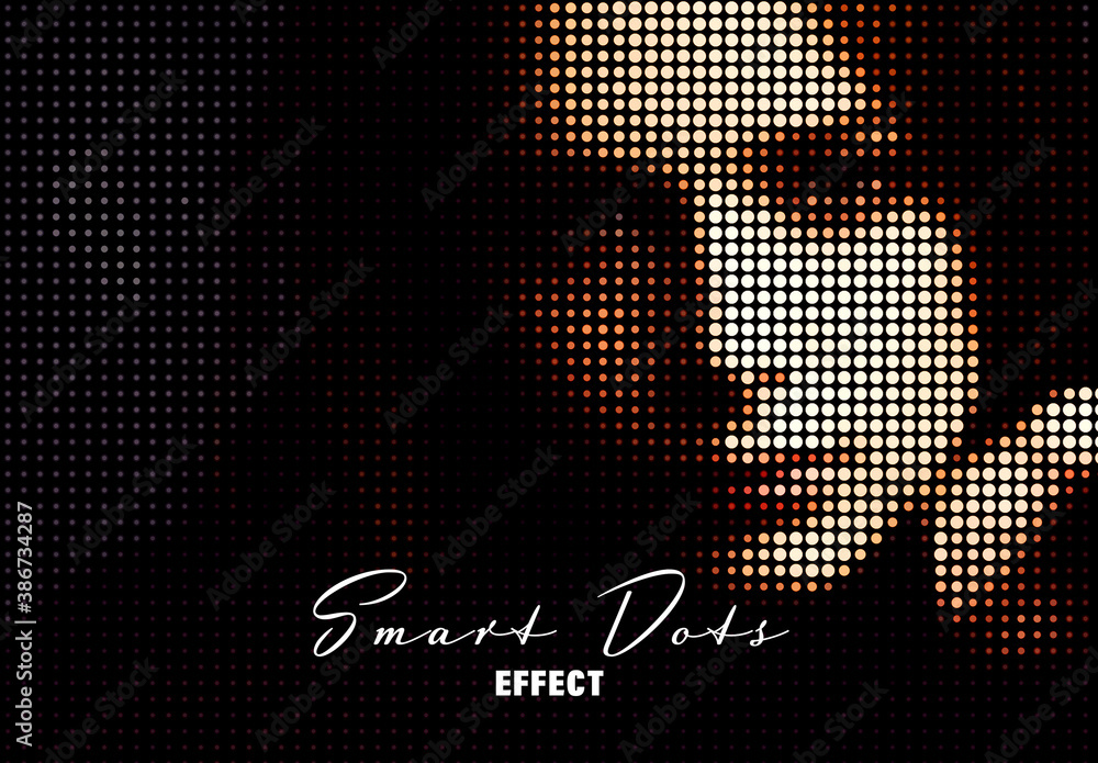 Fototapeta Smart Dots Effect