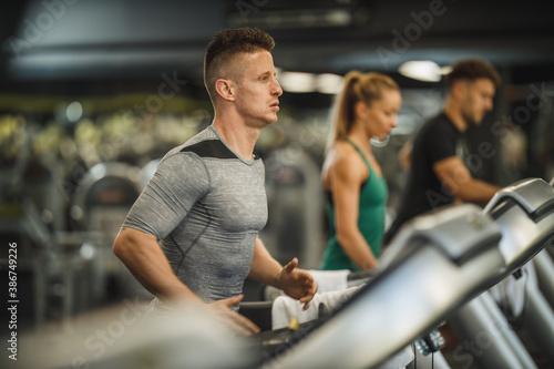 Fototapeta Focused On His Workout