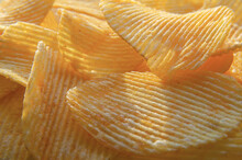 Corrugated Yellow Chips On A B...