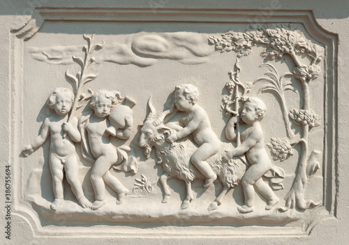 Bas-relief in Belvedere park, Vienna Wallpaper Mural