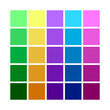 Abstract Colored Palette. Table color shades. Color harmony. Trend colors.