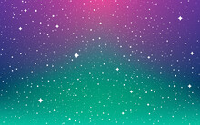 Space Background. Northern Lights Wallpaper. Color Universe With White Shining Stars. Magic Milky Way. Infinity Constellations And Stardust. Abstract Cosmic Backdrop. Vector Illustration