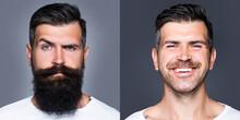 Bearded Man With Long Beard An...