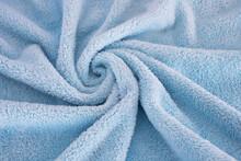 Revolving Shape Plush Bath Towel Fabric
