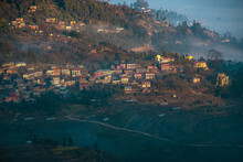 Sunrise In A Nepali Village. F...