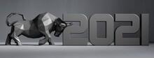 Bull 2021. 3D Render