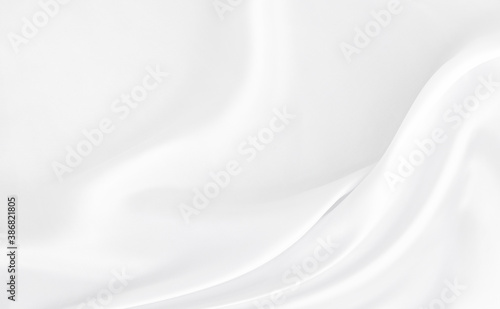 Obraz na plátně White gray satin texture that is white silver fabric silk background with beautiful soft blur pattern natural