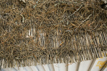 Old Thatched Roof Background C...