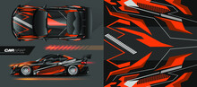 Full Car Wrap Design, With Sporty Abstract Background