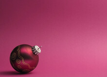 Purple Vintage Christmas Baubl...