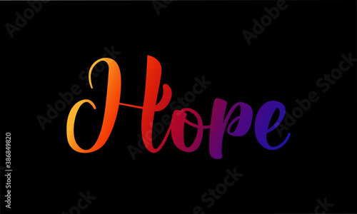 Fotografija Hope, Christian faith, Typography for print or use as poster, card, flyer or Ban