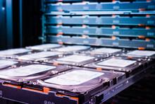 Maintenance Of Hard Drives Inside Data Storage Hosting Center