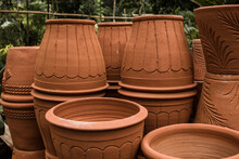 Stacks Of Terracotta Pots For ...