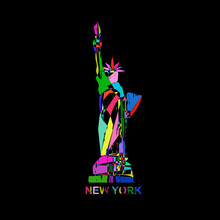 Statue Of Liberty New York USA America Logo Icon Sign Symbol Hand Drawn Modern Color Geometric Abstract Design Fashion Print Clothes Apparel Greeting Invitation Card Picture Banner Poster Flyer Cover