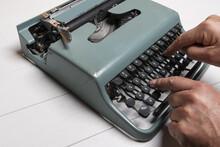 Write With An Old Typewriter O...