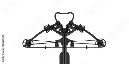 Canvas Print Modern black crossbow isolate on a white back