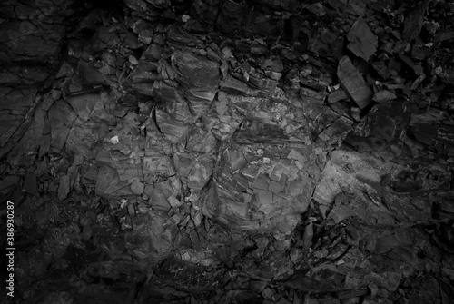 Fotografie, Obraz Dark tone rock outcrop for background